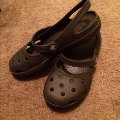 Maryjane crocs Brown, worn a few times. Good condition. crocs Shoes