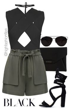 """""""Pool Party"""" by highfashionfiles ❤ liked on Polyvore featuring Givenchy, Balmain, Forever New and Beaufille"""