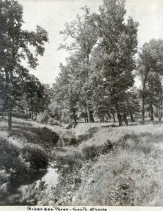 River Des Peres running south of the lake in Forest Park before it was enclosed in preparation for the 1904 World's Fair. (1900 to 1901)