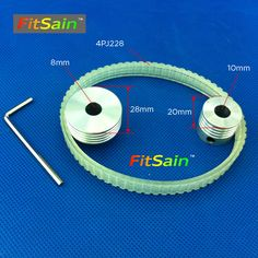 FitSain-Multi wedge PJ Belt pulley 4 slots  for motor shaft 8mm-10mm mini table electric saw sawing machines chainsaw