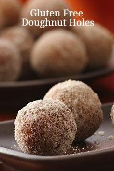 Gluten Free Doughnut Holes | Time for a little dessert. It's almost the weekend!