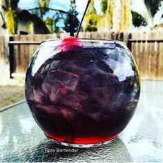 Dark Matter Cocktail - For more delicious recipes and drinks, visit us here: www.tipsybartender.com