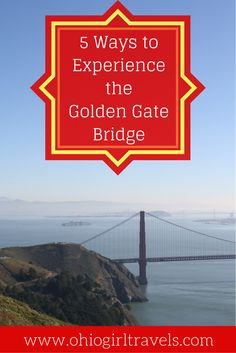 The Golden Gate Bridge is an iconic landmark in San Francisco, California and is the 9th longest suspension bridge in the world! We were in total awe and found 5 unique ways to see the Golden Gate Bridge from every angle. Number 3 is absolutely incredible! You'll definitely want to save this pin to your travel board.