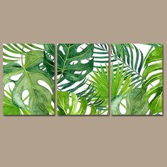 große Wandkunst BANANA LEAF wall art, tropical bedroom wall decor canvas or prints palm watercolor, Leaf Wall Art, Leaf Art, Canvas Wall Art, Diy Canvas, Art Tropical, Tropical Leaves, Tropical Plants, Floral Watercolor, Watercolor Paintings