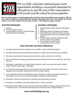"""Save the Kids » """"A national grass-roots organization working to end the school to prison pipeline"""""""