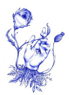 Nuria Riaza's blue ballpoint drawings are meticulous, in every sense of the word. Pen Illustration, Illustrations, Ball Drawing, Ballpoint Pen Drawing, Lion Art, Arts Award, A Level Art, Portraits, Portfolio