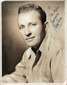Rare Antique Bing Crosby Autograph Inscribed Hand Signed Photo
