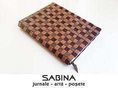 Jurnal A5 piele tesuta, jurnal de calatorie, jurnal steampunk