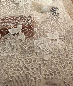 Beige tessuto pizzo tessuto, pizzo floreale grande peonia, sposa tessuto pizzo, tessuto di pizzo da sposa