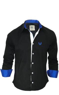 ad93a06ec4fed camisa social masculina preta com azul - Pesquisa Google Look Social  Masculino