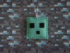 minecraft decorations | Handmade Minecraft Slime felt ornament decoration Christmas