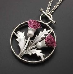 Thistle motif silver pendant by KAZNESQ on Etsy Body Jewelry, Jewelry Art, Silver Jewelry, Jewelry Design, Geek Jewelry, Gothic Jewelry, Designer Jewelry, Silver Earrings, Pendant Jewelry