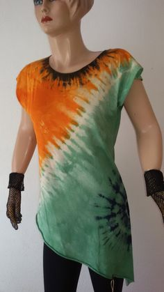 Hand-dyed asymmetric cotton 100 % indie by dklea Sunrise, Indie, Tie Dye, Africa, Tunic, Etsy Shop, Boho, Trending Outfits, Check