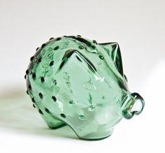 Holmegaard Glass Piggy Bank  Jacob Bang 1950s by ultralounge, $52.00