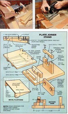 Biscuit joiner Stand - Biscuit Joiner Tips, Jigs and Fixtures | WoodArchivist.com