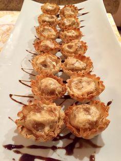 Goat Cheese & Caramelized Onion Tarts w/ Balsamic Glaze