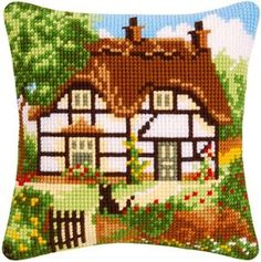 Cottage Cross Stitch Cushion Kit $44.88