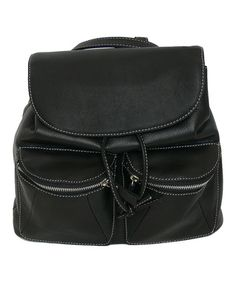 Loving this Black Chelsea Leather Backpack on #zulily! #zulilyfinds