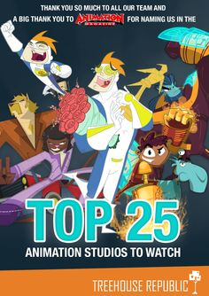 We are over the moon to be listed as one of Animation Magazine's Top 25 Animation Companies to Watch! What an honour Over The Moon, The Creator, Gaming, Entertainment, Animation, Watch, Cool Stuff, Studio, Tattoos
