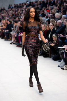 #JourdanDunn #Burberry Prorsum #Runway #FashionWeek Autumn/Winter 2012