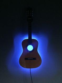3/4 guitar LED wall lamp #Lamp #guitar