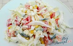 Snack Bar, Coleslaw, Pasta Salad, Low Carb Recipes, Salad Recipes, Potato Salad, Cabbage, Food And Drink, Vegetarian