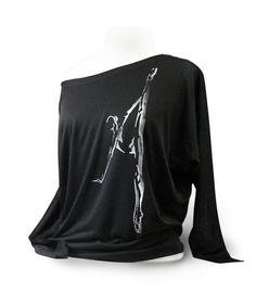 c7e57da4c96d3d Flowy Black Ballet Shirt Titled