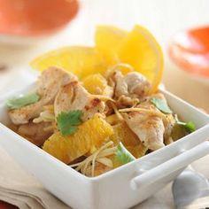 Découvrez la recette Sauté de dinde à l'orange et au gingembre sur cuisineactuelle.fr.