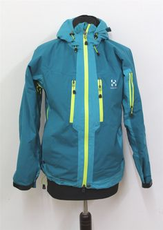 HAGLOFS-Ladies-Green-Waterproof-High-Quality-Hooded-Long-Sleeve-Ski-Jacket-XS