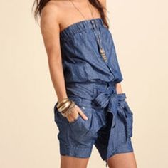 ✨ romper NWOT This romper is sure to turn heads! Perfect for that summer backyard BBQ with some cute wedges and a sun hat! You can wear it with the straps or strapless! Excellent condition, never worn! No snags or stains! The material is 54% cotton and 46% linen. NWOT Miss Sixty Shorts Jean Shorts