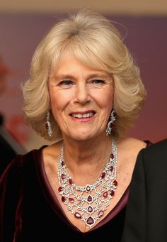 - Photo - Camilla Parker Bowles royal jewelry: tiaras, necklaces, brooches and more – See the diamond, sapphire, ruby and emerald filled collection of the Duchess of Cornwall Ruby And Diamond Necklace, Ruby Necklace, Camilla Duchess Of Cornwall, Duchess Of Cambridge, Royal Films, Charles X, Eugenie Of York, Camilla Parker Bowles, Royal Tiaras