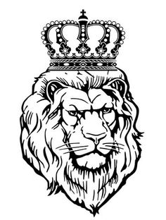 the 21 best lion with crown tattoo drawings images on pinterest