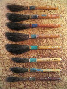 Pinstriping brushes by Knut Olav Dybsjord, via Flickr