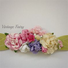 Sweet posy headband by Vintage fairy