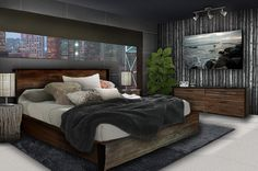 Topnotch Young Mens Bedroom Ideas With Wooden Drawer Under Painting Enlightened Branched Lamp - Designing City