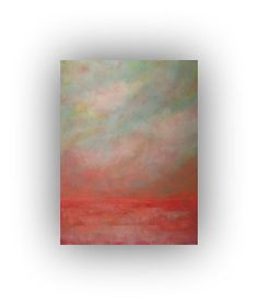 Cloud Painting Original Abstract Landscape Oil by traceynicholas, $345.00