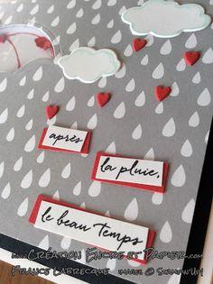 Stampin'Up! Carte Amitié / Friendship Card Étampes Contre Vents et Marées Weather Together Stamp Set Framelits Sortez les parapluies / Umbrella Weather www.creationencreetpapier.com