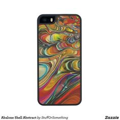Abalone Shell Abstract Carved® Maple iPhone 5C Case