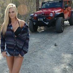 Jeeps and Jeep Girls. Some pics and vids are my personal ones, but most pics are from the net so if its yours or copyrighted let me know and it will be removed. Jeep Jk, Jeep Truck, 4x4 Trucks, Sexy Cars, Hot Cars, Jeep Carros, Jeep Wrangler Girl, Jeep Wranglers, Wrangler Rubicon