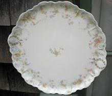 Half Price Haviland Sale - Antique Haviland Limoges Handled Round Platter Princess Variation