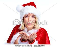 Stock Photo - Santa helper girl. - stock image, images, royalty free photo, stock photos, stock photograph, stock photographs, picture, pictures, graphic, graphics