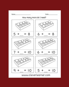 Picture counting and adding activities for first grade and kindergartens Addition Worksheets, Number Activities, Preschool Kindergarten, Pre School, First Grade, Counting, Free Printables, Numbers, Ads