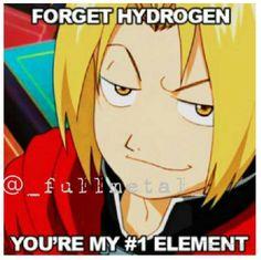 #Anime humor! {#FMA, Fullmetal Alchemist, Edward Elric, #chemistry, #otaku, #manga}
