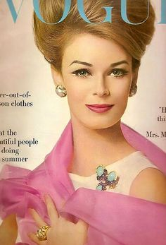 Vogue Cover - 1950's clean beautiful makeup with amazing hair, gorgeous!