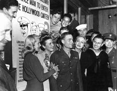 Lana Turner, Deanna Durbin & Marlene Dietrich Honor Sgt. Carl Bell, The One Millionth Soldier To Visit The Hollywood Canteen