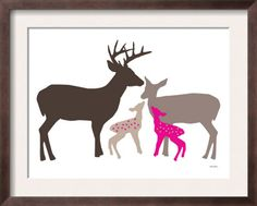 baby girls room, aww something like this would look so cute in Lauren's room! With only one fawn though, and it doesn't need to be pink, trying to stay away from the its a girl we need pink thing!