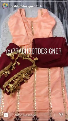 (notitle) - Saree and blouses - Design Salwar Suit Neck Designs, Neck Designs For Suits, Designs For Dresses, Kurta Designs, Blouse Designs, Punjabi Suits Designer Boutique, Boutique Suits, Indian Designer Suits, Indian Suits