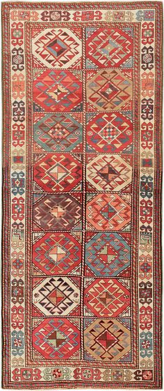 Click here to view this Antique Caucasian Kazak Rug 47568 available exclusively at the Nazmiyal Collection's gallery in New York City.