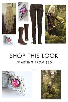 """""""Falathiel, Elven Ranger"""" by amanda-gail on Polyvore featuring Balmain and TOMS"""