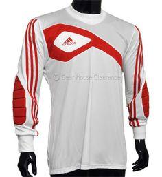 cc3defd5394 New Adidas Assista 13 GK Soccer Goalkeeper Jersey Goalie - White   Red